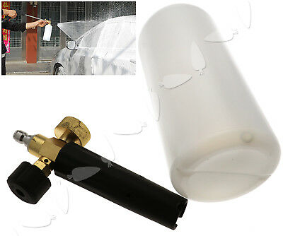 1L Car Foam Lance Cannon Foam Gun Pressure Snow Cleaning Washer Adapter Set