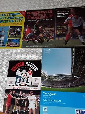 Fa Cup Semi Final Programmes 1981 To 2002 ~ You Choose Year ~ Good Condition