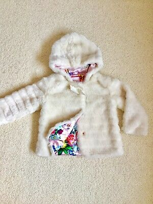 Ted Baker faux fur winter coat. Age 4-5 years.