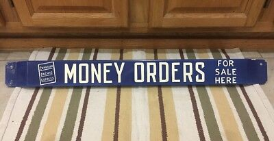 Porcelain Door Push Money Orders Canadian Pacific Express Sign For Here