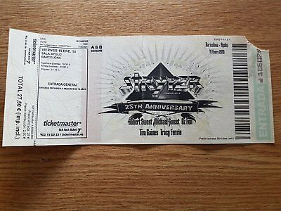 STRYPER 25 anniversary entrada ticket Live in Barcelona 2010 ORIGINAL