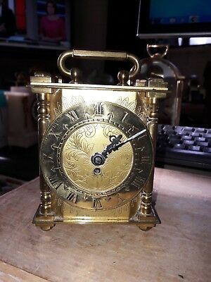 QUALITY VINTAGE SMITHS BRASS 8 DAY CARRIAGE CLOCK working