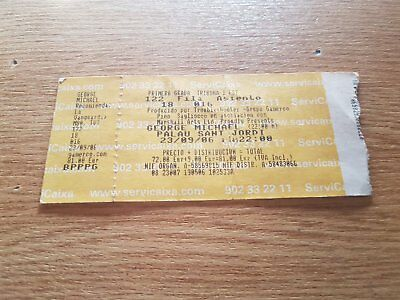 GEORGE MICHAEL entrada ticket Live in Barcelona 2006 ORIGINAL