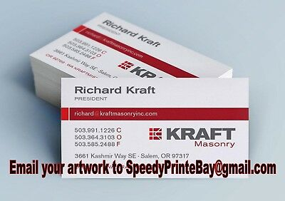 Personalised Business Cards Single Sided 350gsm Professional