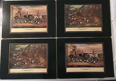 English Fox Hunt, Dogs Placemats Pimpernel (Set Of 4)