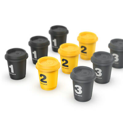 9pcs Mini Cup SATURNBIRD Instant Coffee Cold Brew Milk Fika Brew Shots Gift Box
