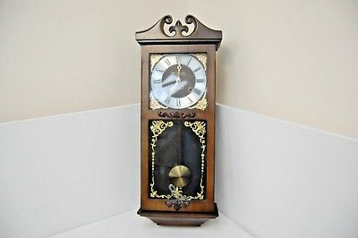 Wall Clock, President 30 Day, Spares Or Repairs, With Key & Pendulum