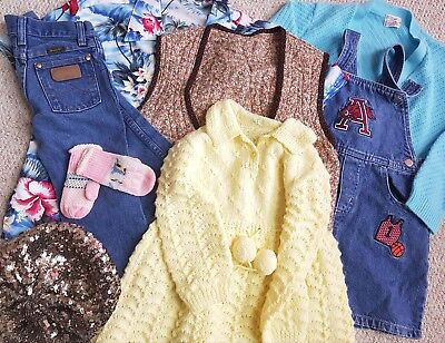 Mixed Joblot Of Childrens Vintage Retro Clothing 8 Pieces