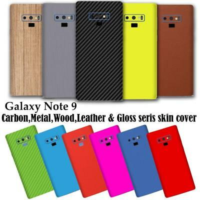 Carbon-Leather-Wood-Chrome-Gloss Skin Wrap Sticker Case Cover Samsung Note 9