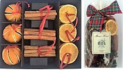 Pack of 21 Highland Christmas Potpourri 1 Dried Orange & Cinnamon Decorations