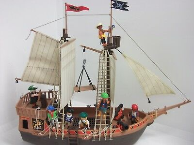Playmobil ® Piratenschiff 3750 mit Piraten Figuren Kanonen für Pirateninsel