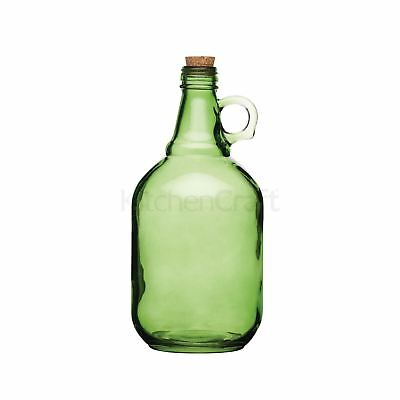 Set of 4 Home Made 1.9 Litre Assorted Colours Traditional Glass Demijohns