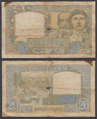 France 20 francs 1942 (G) Condition Banknote P-92c