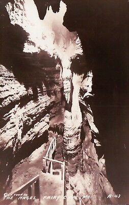 RPPC Real Photo FAIRY CAVE MO The Angel Vintage Postcard