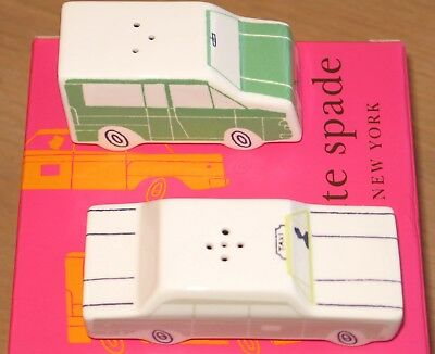 Kate Spade New York Hopscotch Drive About Town Vehicle Salt & Pepper Set Lenox