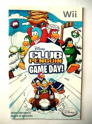 52193 Instruction Booklet - Disney Club Penguin Game Day - Nintendo Wii (2010) R
