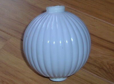 1900's Victorian Antique Milk Glass Lightning Rod Ball Ornament NOT REPRO!
