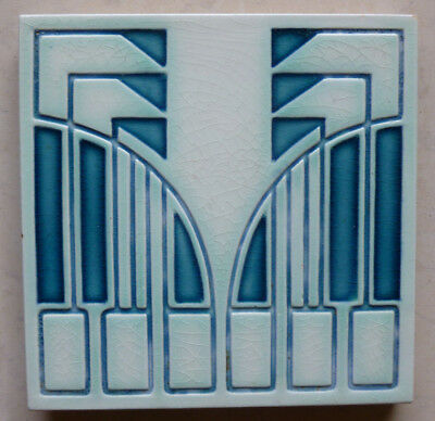 Jugendstil Fliese art nouveau tile V&B Mettlach Tegel Behrens rar stilisiert