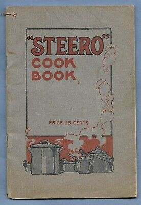VINTAGE 1913 STEERO COOK BOOK AMERICAN KITCHEN PRODUCTS CO 64 pages