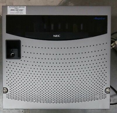 NEC Aspire KSU Phone System 8 Slot  PSU model IP1NA-8KSU-A1 + 4 phones + switch