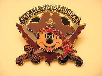 Disney Pirates of the Caribbean Mickey Mouse Crossed Swords  Trading Pin 2006