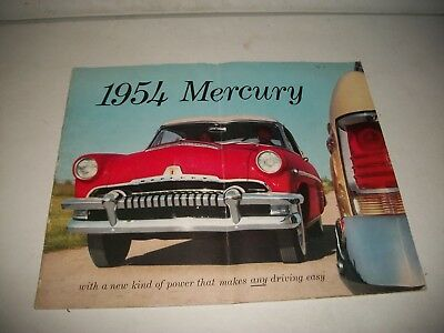 1954 Mercury Deluxe Large Size Sales Brochure Monterey Sun Valley