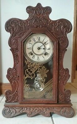 Antique Ansonia Gingerbread Kitchen Clock