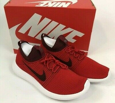 c290702c43c7 Nike Men s Roshe Two Flyknit V2 Athletic Shoes Sneakers Red 918263 600 New