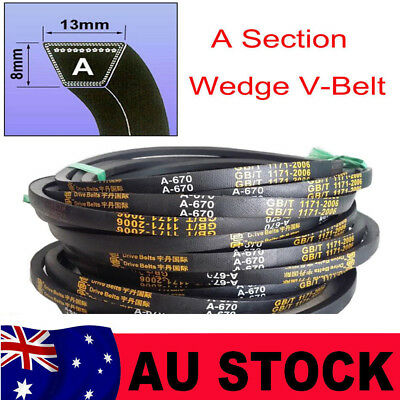 V Belt  A Section Sizes A21-A125 8mm*13mm High Quality For Industrial LawnMower
