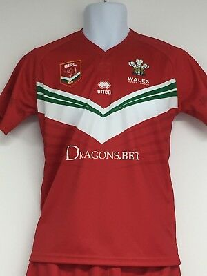 Wales Rugby League errea 2017/18 Replica Home Jersey - YXS (Approx 6 years)