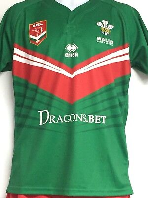 Wales Rugby League errea 2017/18 Replica Away Jersey - LARGE