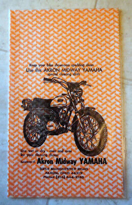 "Vintage YAMAHA DT Motorcycle Cleaning Cloth 14"" x 24""--AKRON MIDWAY YAMAHA"