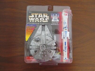 Star Wars Collector Timepiece R2D2 and Millennium Falcon 1996 Old New Stock NIP