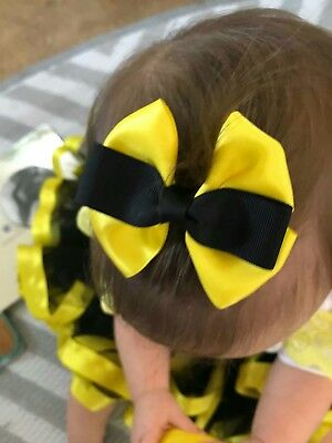 Emma wiggles, hair bow on clip for baby/girls/toddler