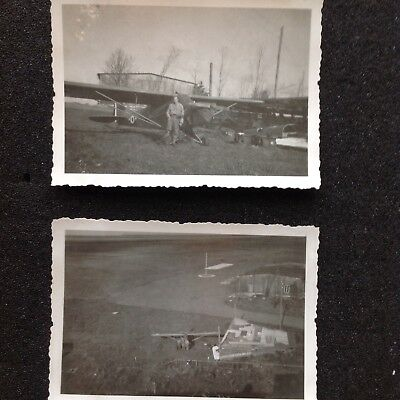 PHOTO MILITAIRE lot aviation  piper reconnaissance WWII GUERRE