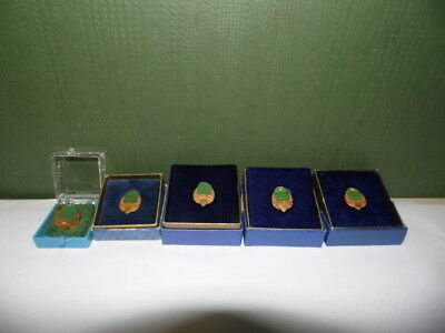 Solid 14K Gold Quaker State Employee Service Pin Set Of 5  11.7 Grams Oil Gas