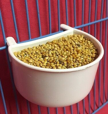 1 X Cat Cage Clip On Water Food Bowl Countainer 2 Hook Cup 7 cm Travel Bowl