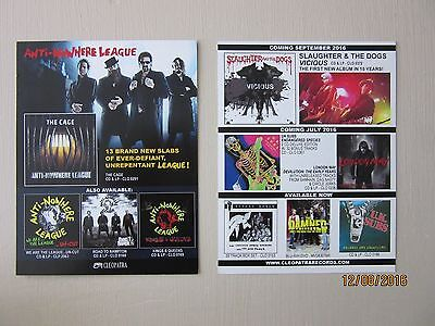"""Anti Nowhere League - """"The Cage"""" + Other Album Releases - Cleopatra Punk Flyer"""