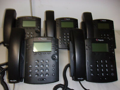 Lot Of 5 Vvx 310 Ip Phones 2201-46161-001  Reset