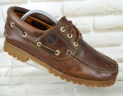 TIMBERLAND Brown Leather Mens Casual Boat Deck Shoes Moccasins Size 7 UK 41 EU