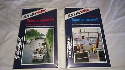 Stander Magazin Video Seemannschaft Teil 1+2 VHS Antiquariat - Lehrfilme