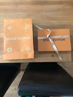louis vuitton EMPTY Sales Box And Orange Paper Bag and LV ribbon