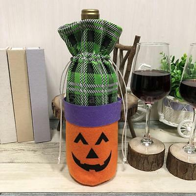 Halloween Non-Woven Wine Bottle Bag Pumpkin/Black Cat Candy Bag with S8Y1