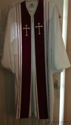 Vintage MURPHY ROBES Vestment Robes Priest Clergy Choir Church White Red