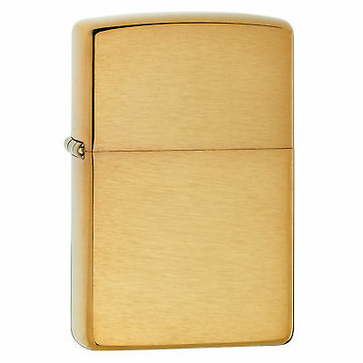 Zippo Brushed Brass Without Solid Brass Engraved New in Box Great Gift Dad Mom