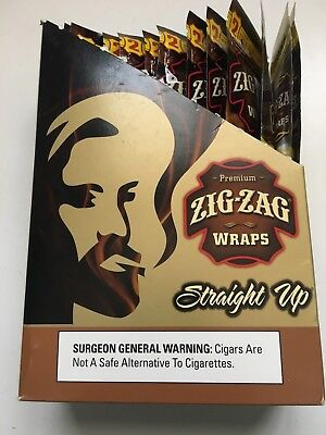 Zig Zag Wraps Straight Up 50 Cigar Wraps 25 Packs Per Box Free Priority Ship