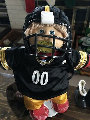 Pittsburgh Steelers NFL Build A Bear Uniform on Cabbage Patch Pacifier Kid doll