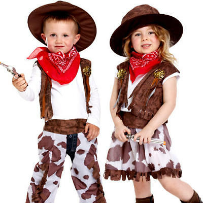 Cowgirl or Cowboy Toddler Ages 2-3 Fancy Dress Wild Western Kids Childs Costume