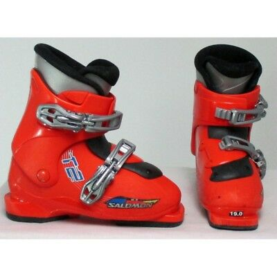 Chaussure ski occasion junior Salomon t2/t3 rouge