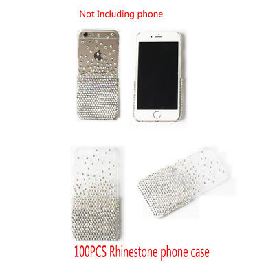 100PCS Luxury Bling Rhinestone Crystal Diamond Phone Case Cover For iPhone 6 6s